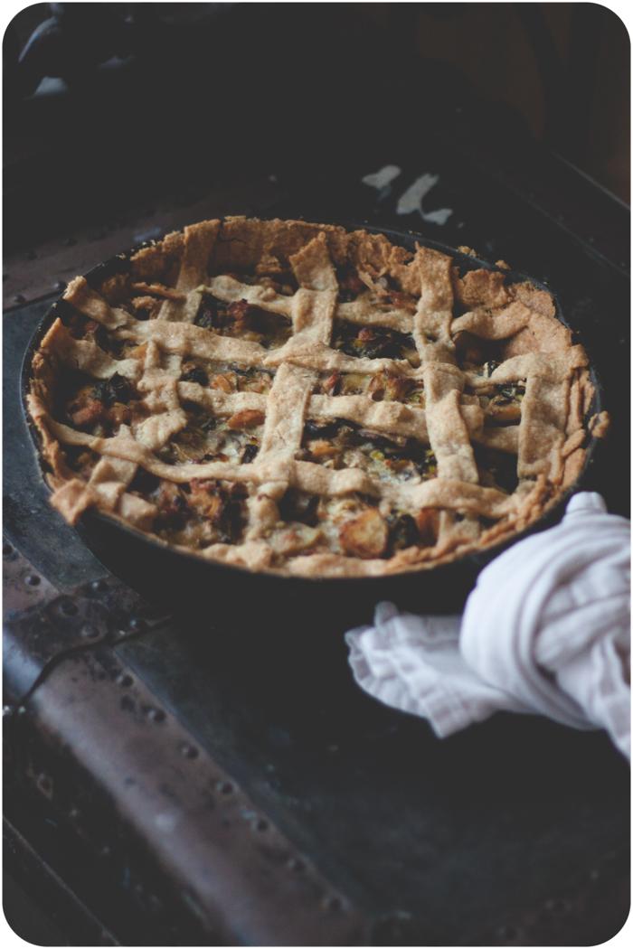 Wholewheat turkey and veggie pot pie -madeyedlinblog.com