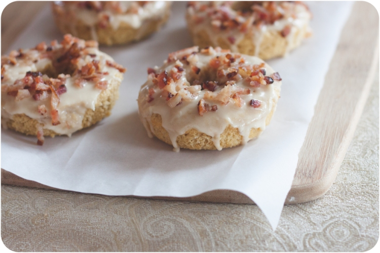 baked mayple bacon doughnuts madeyedlinblog.com-2