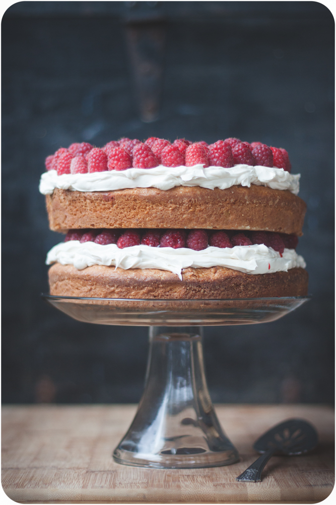 20140627-IMG_7275white cake with raspberries and swiss buttercream